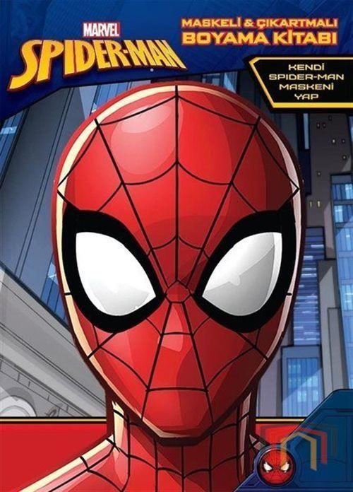Marvel Spider Man Maskeli Ve Cikartmali Boyama Kitabi Kolektif